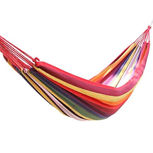 Greenbay Outdoor Leinwand Hängematte Garten Yard Strand Reise Camping Swing Bett, mit Tragetasche