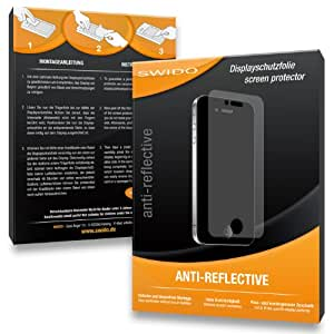 3 x SWIDO Anti-Reflective Screen Protector for Panasonic Lumix DMC-FS40 / FS-40 - PREMIUM QUALITY (non-reflecting, hard-coated, bubble free application)