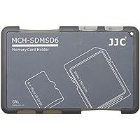 JJC memory Card Case per 4 x microSD + 2 x schede SD - Gray Edition - MCH-SDMSD6