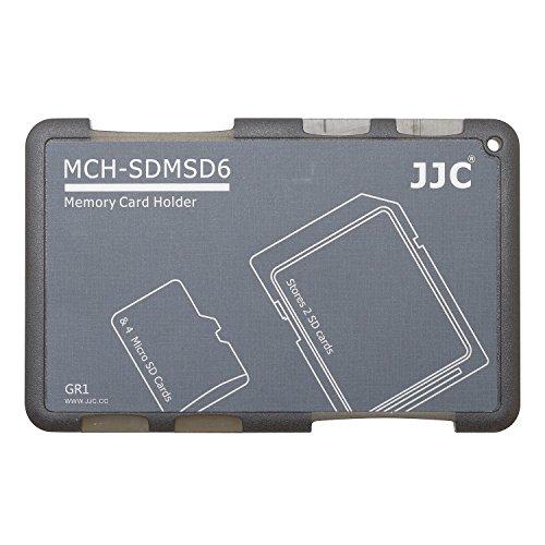 JJC Memory Card Case for 4x microSD 2x SD Cards - Gray Edition - MCH-SDMSD6