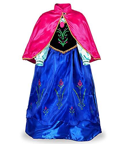 Hukangyu1231 Schneeflocke Party Kleid Königin Kostüm Prinzessin Cosplay Anziehen (S 100cm-L 130cm) Damen Halloween Kostüm (Größe : L(120-130cm))