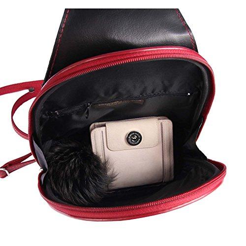 OBC Only-Beautiful-Couture, Borsa a zainetto donna rosso rosso/nero ca.: 22x36x10 cm (BxHxT) nero/rosso