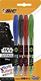 Star Wars BIC Gel-ocity Illusion Stylos Gel Effaçables - Couleurs Assorties, Blister de 4