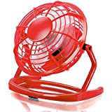 CSL - Mini Ventilateur USB | Mini ventilateur de bureau / Fan | pour ordinateur / ordinateur portable | rouge