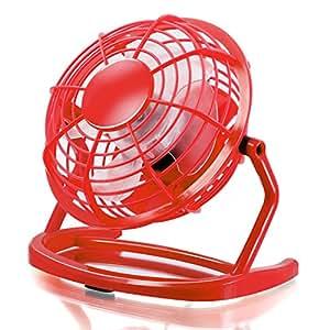 CSL - Ventilatore USB | ventilatore da tavolo / ventola | PC / notebook | in rosso