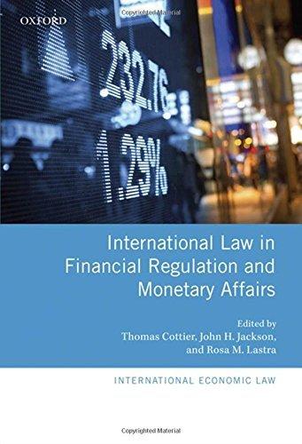 International Law in Financial Regulation and Monetary Affairs (International Economic Law) by John H. Jackson (2012-12-02) par John H. Jackson;Thomas Cottier;Rosa M. Lastra