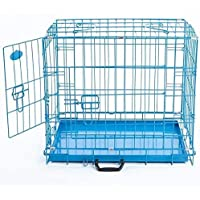 Buyagain Double Door Folding Metal Cage/Crate/Kennel with Removable Tray and paw Protector for Dogs,Cats and Rabbits 30…