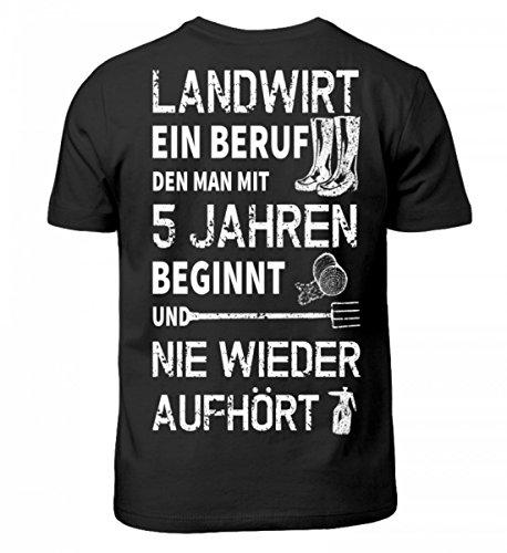 Shirtee Hochwertiges Kinder Landwirtschaft Geschenkidee für Landwirte · Aufdruck Traktor Motiv/Spruch · Verschiedene Farben Schwarz