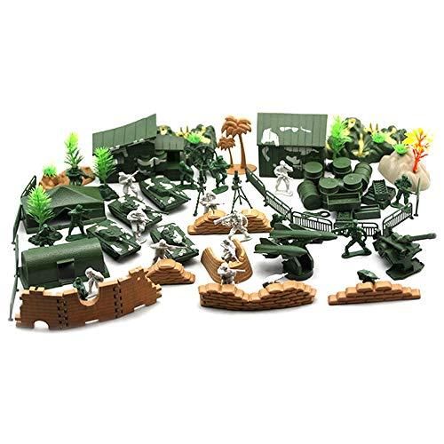 90PCS Plastikmodell Spielset Toy Soldiers Action-Figuren Army Men Accessoires (Spielset Action-figuren)