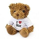London Teddy Bears Orsacchiotto con Scritta I Love Max, Carino e coccoloso, Regalo di Compleanno, Natale, San Valentino
