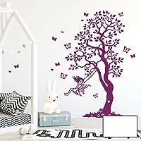 Wandtattoo Wandbild Wandsticker Baum mit Reh Hasen und Schmetterlinge M2126