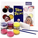 belupai Juego de Pintura Facial para niños con 12 Colores – Suministros de Pintura de Maquillaje de Haloween