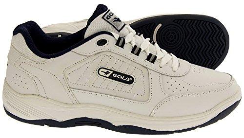Gola Chaussures De Sport À Lacets Soupe Large EE Cuir pour Hommes Blanc - blanc