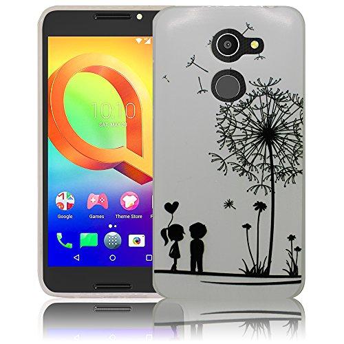 thematys Alcatel A3 Pusteblume Silikon Schutz-Hülle weiche Tasche Cover Case Bumper Etui Flip Smartphone Handy Backcover Schutzhülle Handyhülle