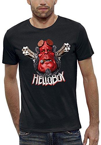 PIXEL EVOLUTION 3D animierte T-Shirt Hellboy in Augmented Reality Herren - größe XXL - Schwarz (Pixel-waffen)
