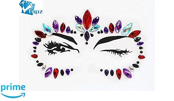 Super Flash face sticker diamond Halloween tattoo of eye