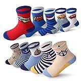 Fenhant 10 pares niños niños Cute novedad Crew calcetines de algodón 1-11 años