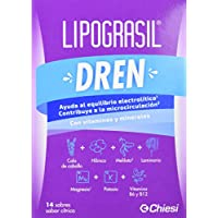 Lipograsil Dren – Drenante con ingredientes de origen 100% natural – 14 sobres sabor cítrico