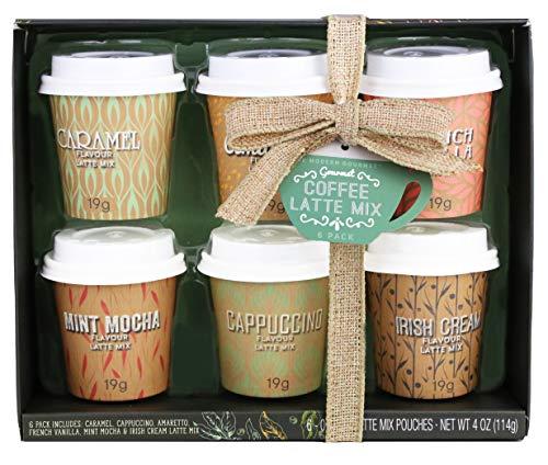 Modern Gourmet Foods - Mini Kaffee Geschenkset - Weihnachtsset Mit 6 Verschiedenen Kaffee-Mischungen - 6 x 19 g