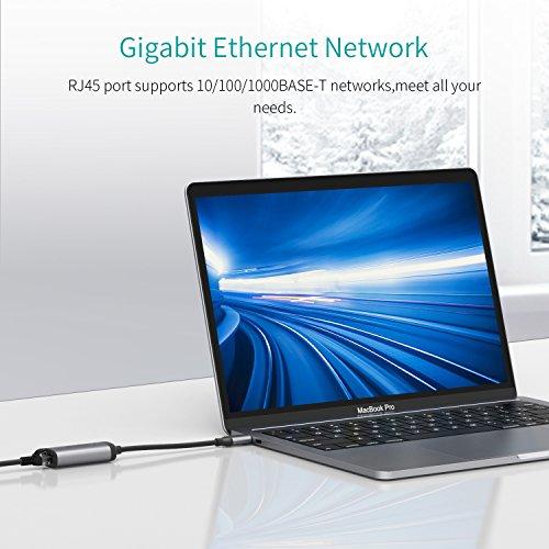 5171ffxc%2BWL - [Amazon.de] QacQoc USB-C auf Ethernet Adapter für 11,89€ statt 16,99€