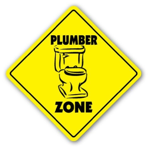Funny Sign Geschenk Klempner Zone Sign Neuheit Tools Schlange Plunger Rohr Supplies Arbeitsplätze Outdoor Metall Aluminium Schild, Dekoration (Rohr-schlangen)