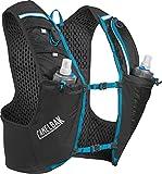 CamelBak Ultra Pro Mochila de Hidratación, Hombre, Negro/Azul (Atomic Blue), L