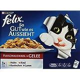 Felix Katzennassfutter So gut wie es aussieht in Gelee Geschmacksvielfalt vom Land, 12x100g Portionsbeutel