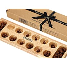 Mancala - Club 13 inch Size - Wooden Playing Pieces - Jaques of London
