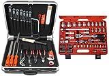 Famex 648-21 Werkzeug Komplettset High-End Qualität in ABS Schalenkoffer 25L mit 66-teiligem Steckschlüsselsatz