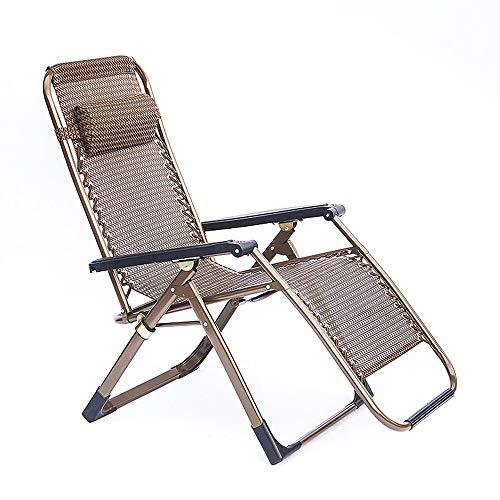 HARDY-YI - liegestuhl Klappstuhl Bambus Hochwertiger Handlauf Siesta Lounge Vierkantrohr Freizeitstuhl Freizeit Lounge Chair - 7881