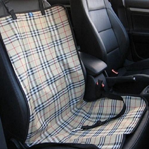 Tping Hunde Autositz Autoschonbezug Autodecke Sitzdecke Sitzschoner Autozubehör 1 Sitz (Beige Plaid)
