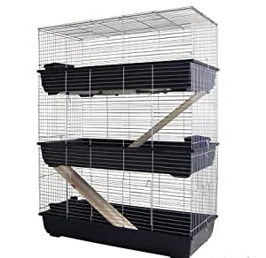 MyPets® Nagerkäfig TowerCage Hamsterkäfig Meerschweinchenkäfig dreistöckig Breite 100 x Tiefe 52 x Höhe 150