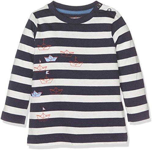 Esprit Kids Baby-Jungen Langarmshirt T-Shirt, Blau (Navy 490), 62