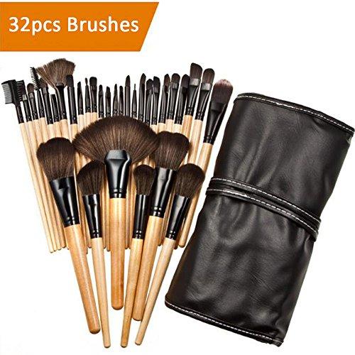 32-tlgs Schmink Make up Pinsel,Cosfine Pinselset etui Schmink Kosmetik Lidschatten Gesichtspinsel