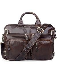 AB Earth? Vintage HANDMADE Leather Men's Briefcase Backpack Messenger Laptop Bag Handbag,M43