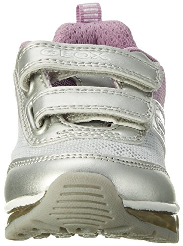 Geox J ANDROID B Mädchen Sneakers Silber (silver/lt Lilacc1285)