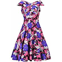 Robe Vintage 1950's Florale Garden Printemps Rockabilly Swing Robe