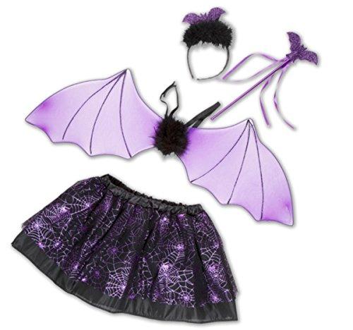 Kinder Tutu Set Fledermaus Halloween Kostüm (Tutu Set Fledermaus (lila)) (Tutus Halloween Kostüme)