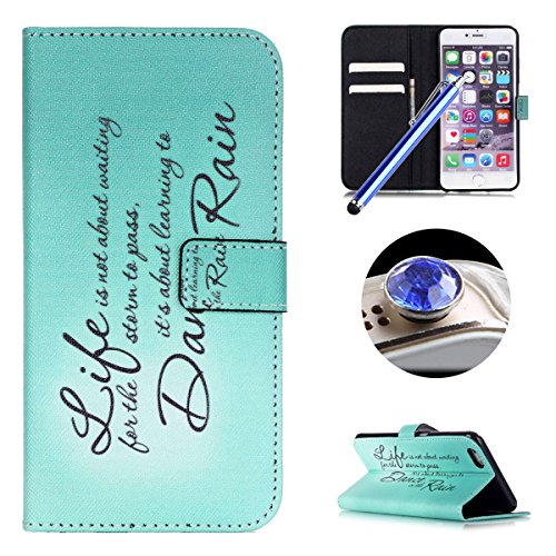 Etsue pour Apple iPhone 6 Plus/6S Plus 5.5,Etui Coque Cuir Stand Portefeuille Case Coloré Motif pour Apple iPhone 6 Plus/6S Plus 5.5,Bookstyle PU Flip Leather Wallet Case Cover Shell With Colorful Pat Proverbe