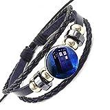 Doctor Who Tardis Moda Vidrio Negro Pulsera De Cuero Brazalete Joyería para Las Mujeres Niñas Hechas A Mano
