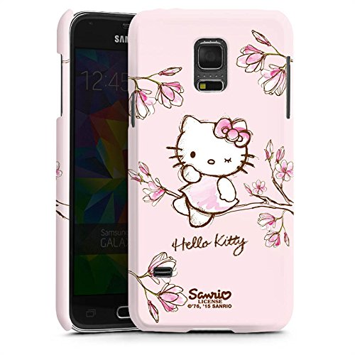 DeinDesign Samsung Galaxy S5 mini Hülle Premium Case Cover Hello Kitty Merchandise Fanartikel Magnolia