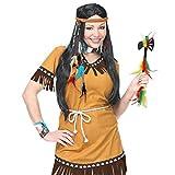 Set di accessori per costume da indiana / 5 pezzi / con ornamento per capelli, orecchini, collare & braccialetto / Vestita adeguatamente per feste carnevalesche o sfilate di carnevale in strada