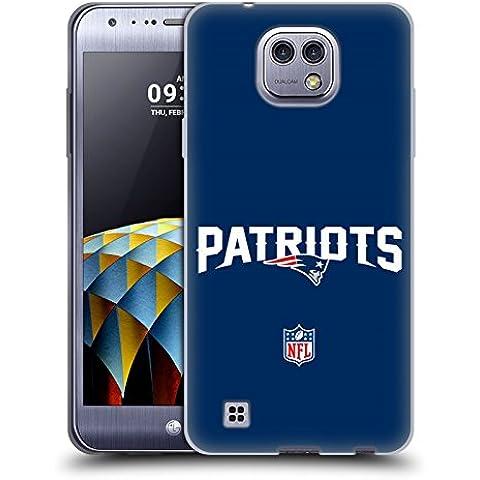 Ufficiale NFL Semplice New England Patriots Logo Cover Morbida In Gel Per LG X cam
