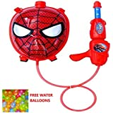 Jiada StarToys Spiderman Face Holi Pressure Water Gun Pichkari with Tank Backpack | 3D Design 3.0 Litre