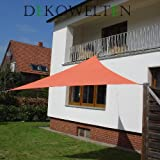 Dekowelten LUXUS Terrassen Sonnensegel dreieck der ExtraKlasse 4,50m wasserdicht Terracotta Regenschutz
