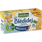 Blédina blédidéj biscuité céréales au lait 2x250ml dès 6 mois - ( Prix Unitaire ) - Envoi Rapide Et Soignée
