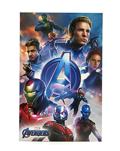 Avengers-Geburtstagskarte - ideales Geschenk für Ihn - Avengers Endgame - Avengers mit Captain Marvel, Iron Man, Thor, Hulk, Black Widow, Captain America, Rakete, Ameisenmann - Marvel
