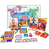 Learning Toys For Kids - United Kingdom Activity Box - Little Explorers (4-6 Years)