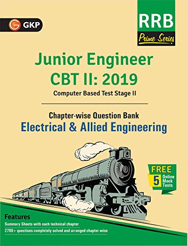 RRB (Railway Recruitment Board) Prime Series 2019 : Junior Engineer CBT 2 - Chapter-wise and Topic-Wise Question Bank - Electrical & Allied Engineering
