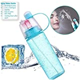 Orpio 600ml Outdoor Sports Gym Drink Water Bottle With Spray Mist / Outdoor Cycling Sport Gym Bottle / Gym Water Bottle